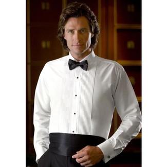 Laydown collar tuxedo shirts for Tuxedo shirts for men