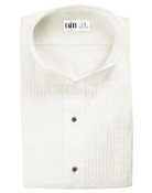 Ivory Wing Collar (Dante) Tuxedo Shirt by Cardi