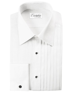 Milan Laydown Tuxedo Shirt by Cristoforo Cardi - 15 Neck