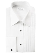 Milan Laydown Tuxedo Shirt by Cristoforo Cardi - 19 1/2 Neck