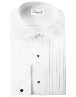 "Roma Wingtip Tuxedo Shirt by Cristoforo Cardi - 16"" Neck"