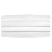 Satin White Cummerbund