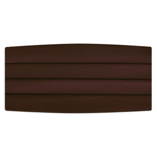 Satin Chocolate Brown Cummerbund