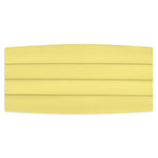 Satin Cummerbund and Bow Tie Set - Canary Yellow