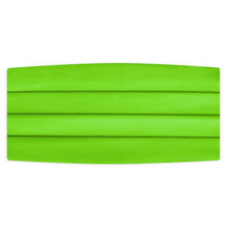 Satin Kelly Green Cummerbund