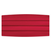 Satin Red Cummerbund