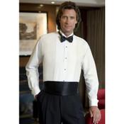 White Wing Collar Tuxedo Shirt - Men's Large