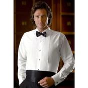 White Laydown Collar Tuxedo Shirt - Men's 3X-Large