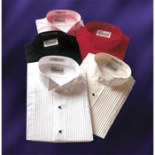 Colored Wing Collar Tuxedo Shirt - Men's Large