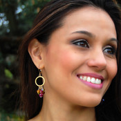 Hoop Cluster Earrings shown in 18K Gold Vermeil Cabrina.