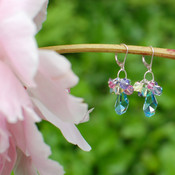 Polygon Cluster Earrings in Sterling Silver Pastel.