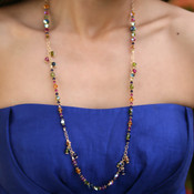Long Dangle Necklace shown in Gypsy.