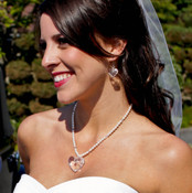 True Love Necklace. Shown with Truly Heart Earrings in Sterling Silver Clear.