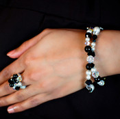 Allure Double Bracelet. Shown with Cluster Ring in Allure.