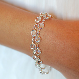Channel Set Bracelet shown in Silver Crystal (Clear)