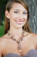 Natalie Necklace in Sandy Beach shown with the Pearl Drop Earrings