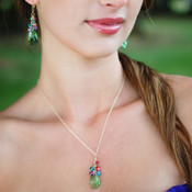 Tropicana Cluster Necklace shown with the Tropicana Cluster Earrings
