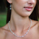 Channel Set Necklace in Silver Crystal (Clear) shown with the Channel Set Earrings