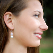 Marilyn Drop Earrings in Sterling Silver
