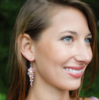 Blush Petite Couture Cluster Earrings
