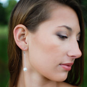Pearl Chain Dangle Earrings