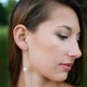 Pearl Chain Dangle Earrings