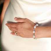 Pearl & Clear Bracelet in Sterling Silver