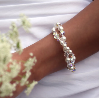 Vivienne Double Bracelet shown in Sterling Silver