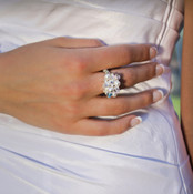 Romance Cluster Ring shown in Sterling Silver.