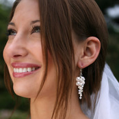 Petite Couture Cluster Earrings shown in Sterling Silver