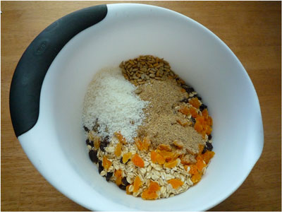Sugar, Dairy and Nut Free Granola Ingredients