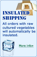 "All orders with raw cultured vegetables will automatically be insulated"" width="
