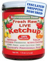 Organic Raw Fresh Live Cultured Ketchup Sugar-Free Rejuvenative Foods Probiotic-Flora Enzyme-Fermented-Vegetables 100%-USDA-Certified-Organic Pure In-Glass Vitamin-Antioxidant-Mineral-Nutrition