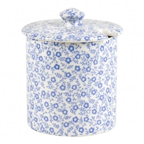 Blue Felicity Covered Jam/Sugar Pot