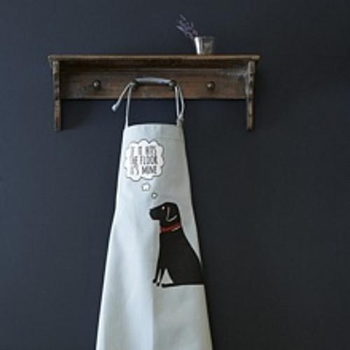 Organic cotton black labrador apron from Sweet William Designs.