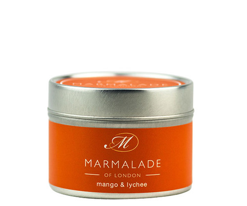 Mango & Lychee small tin candle from Marmalade of London.