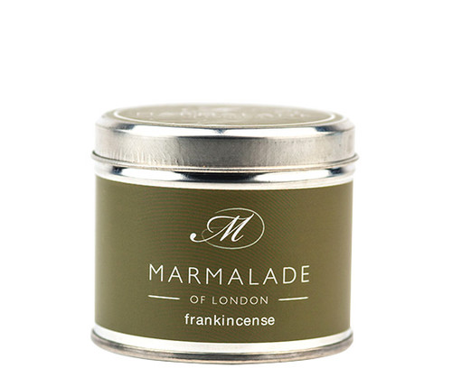 Frankincense medium tin candle from Marmalade of London.