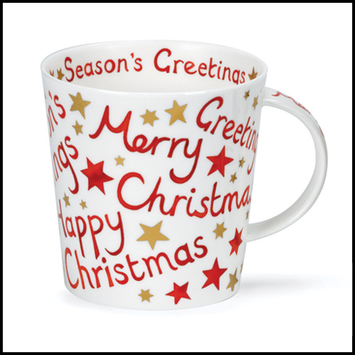 Bone China Dunoon Cairngorm Christmas Greetings mug