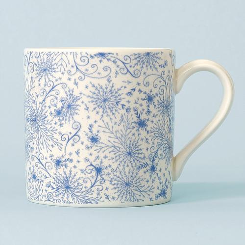 Ceramic Blue Burst mug. Made in England.