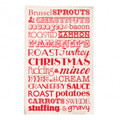 Christmas Dinner Tea Towel - Red