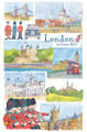 London by Emma Ball Tea Towel