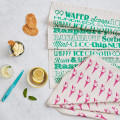 Ice cream tea towels from Victoria Eggs.