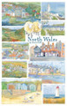 North Wales 100% cotton tea towel from Emma Ball.
