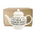 Small Emma Bridgewater pottery Black Toast teapot. Made in England.