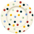Polka Dot 8 1/2 Plate