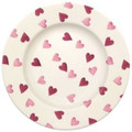 Pink Hearts 8 1/2 inch Plate