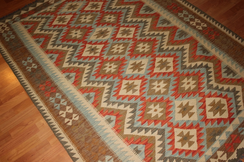 Hand Woven Mazar Kilim Rugs Made In Afghanistan