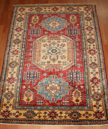 Hand Knotted Kazak Rug from Afghanistan - 146 x 102cm