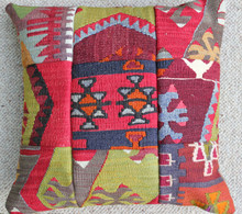 Kilim Cushion - Handmade from Antique Turkish Kilim No.1