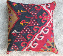 Kilim Cushion - Handmade from Antique Turkish Kilim No.5